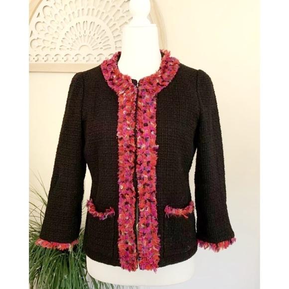 Kate Spade New York Ginnifer Blazer Tweed Black S